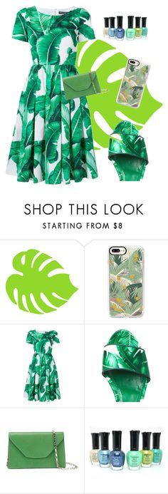 """palm leaf"" by the-vintage-palace2016 ❤ liked on Polyvore featuring Casetify, Dolce&Gabbana and Valextra"