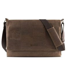 Korklaptoptasche / Messenger «Corkor L Dandy, Cork Fabric, Laptop Briefcase, Vegan Gifts, Messenger Bag Men, Shoulder Strap, Satchel, This Or That Questions, Ranger