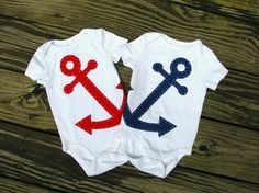 Nautical Baby Onsies - Click image to find more Weddings Pinterest pins