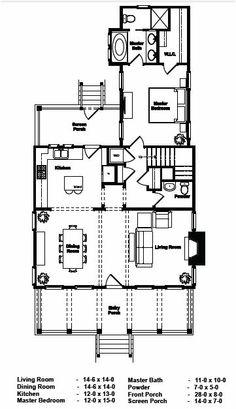 Elloree Cottage 1st floor ~ http://www.saludariverclub.com/blog/portfolio-home/the-elloree/