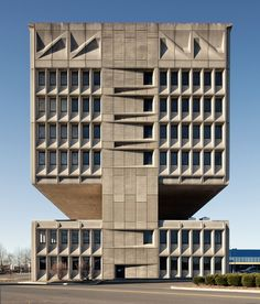 I used to live in New Haven and always wondered was in that building. LOL Pirelli Tire Building, New Haven; Marcel Breuer & Associates Photograph by Ty Cole. Concrete Architecture, Concrete Building, Interior Architecture, Public Architecture, Contemporary Architecture, Pavilion Architecture, Building Architecture, Sustainable Architecture, Residential Architecture