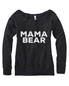 sweatshirt wide neck. Momma Bear. Mama Bear Off Shoulder Sweater. Sweater for mother to be