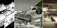Star+Wars:+Millennium+Falcon+from+Sketches+to+Final+Scene
