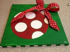 Christmas Canvas by TeeTeesBoutique on Etsy, $25.00