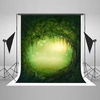 Wish | 5x7ft(150x220cm) Natural Scenery Mysterious Tree Hole Photography Backdrops for Children Dream Photographic