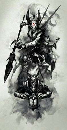 League of legends skins lua sangrenta Comic Manga, Lol League Of Legends, Blood Moon Lol, Blood Moon Skins, Samurai, Assassin, Mobile Legends, Arte Legal, Epic Art