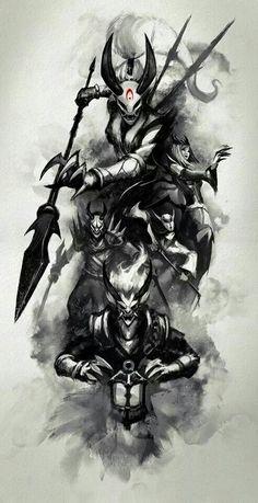 League of legends skins lua sangrenta