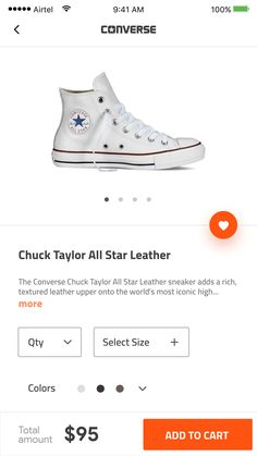 Converse Product page with Add to cart - concept