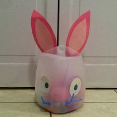 Great Easter project for the kids. It's made out of a milk jug.
