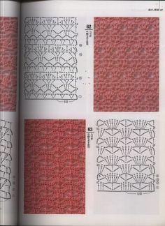 Fabulous Crochet a Little Black Crochet Dress Ideas. Georgeous Crochet a Little Black Crochet Dress Ideas. Crotchet Stitches, Crochet Motifs, Crochet Diagram, Crochet Stitches Patterns, Crochet Chart, Knitting Stitches, Crochet Lace, Stitch Patterns, Crochet Gratis