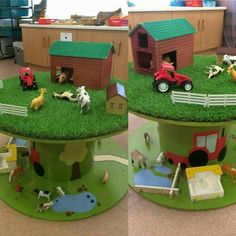 my cable reel table ideas small world early years eyfs foundation stage farm diy cable drum
