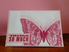 Marits blog Stampin' Up! Butterfly card with Stampin' Up! Swallowtail, sentiment Oh hello