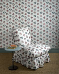 Laura Normanton presents her pick of the finest fabrics to be released this season, from hand-printed linens to modern jacquards. Samuel And Sons, Printed Linen, Small Tables, Handmade Furniture, Of Wallpaper, Stripes Design, Bed Covers, Soft Furnishings, Slipcovers