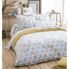 Bedroom/Chambre Parure de lit coton Optic Blancollection - Made in France