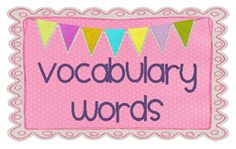 Vocabulary words sign