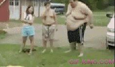 Fat Guy Water slide Fail