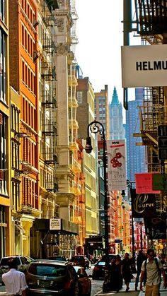 On the cozy colorful streets of #Soho, NYC