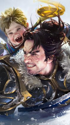 white paternal love, xi zhang on ArtStation at https://www.artstation.com/artwork/white-paternal-love