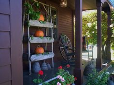 Side porch Fall 2013