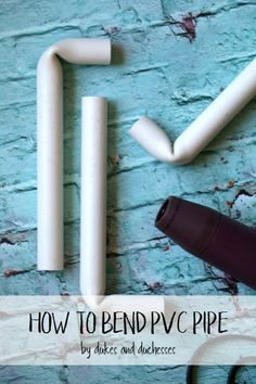 Learn how easy it is to bend PVC pipe using a tool that most crafters have at home! Pvc Pipe Crafts, Pvc Pipe Projects, Diy Craft Projects, Diy Crafts, Craft Ideas, Backdrop Frame, Diy Backdrop, Cool Diy, Easy Diy