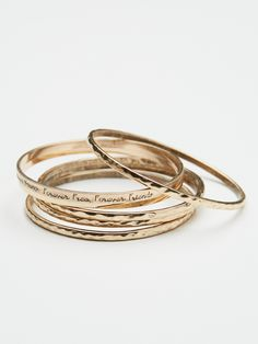 Scripted Bangles Set at Free People Clothing Boutique