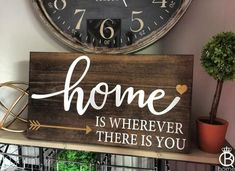 http://teds-woodworking.digimkts.com/ wow I need to get some plans  woodworking joinery  Home Is Wherever I'm With You Sign - QueenBHome