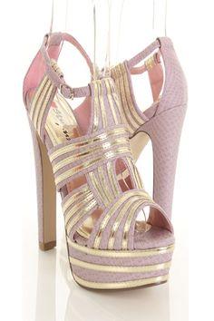 Lavender Faux Leather Snake Texture Metallic Peep Toe Platform Heels http://www.amiclubwear.com/shoes-heels-rf-idealavenderisnkpu.html#