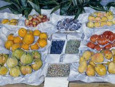 Gustave Caillebotte - Fruit Displayed on a Stand - c. 1881–1882
