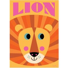 Lion Face Poster ~ Ingela P. Arrhenius