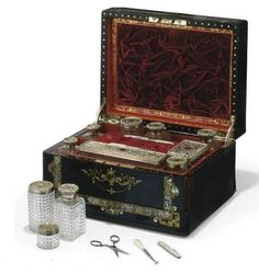 Victorian Gentleman's Travelling Dressing Table Set, 1849
