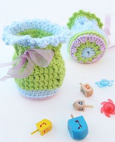 Granny Medallion Crocheted Gift Pouches!