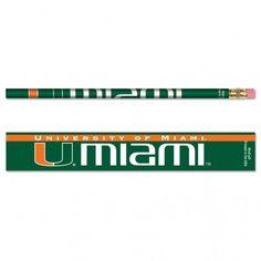 University Of Miami (Florida) Pencil 6-pack MNF