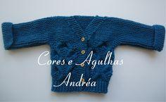 Cores e Agulhas: Casaquinho para Bebe em trico!!