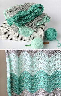 Feather & Fan Baby Blanket - Free Pattern