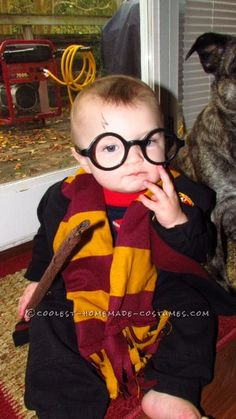 Cutest Harry Potter Baby Homemade Halloween Costume... This website is the Pinterest of costumes