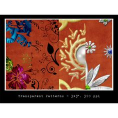 4 Ornate Floral Abstract Patterns Set PAT/PNG - http://www.welovesolo.com/4-ornate-floral-abstract-patterns-set-patpng/