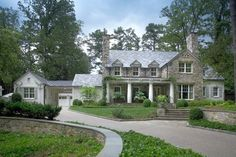 Country Manor - traditional - exterior - atlanta - Land Plus Associates, Ltd