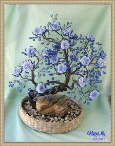 Деревья - beaded trees - Olga Kushelev - Picasa Web Album