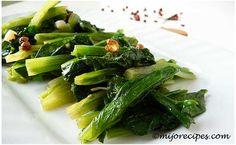 Stir-fry Chinese greens... yum