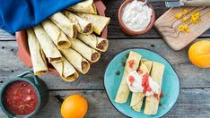 Orange Black Bean Taquitos