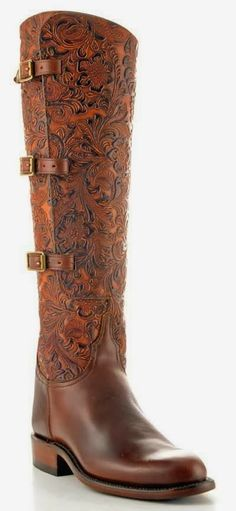 Gorgeous Pure Hard Leather Long Boot, Brown Long Boot