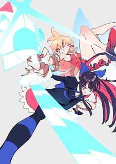 See more 'Panty and Stocking' images on Know Your Meme! Pretty Art, Cute Art, Panty And Stocking Anime, Arte Emo, Bubbline, Fan Art, Magical Girl, Art Inspo, Art Reference