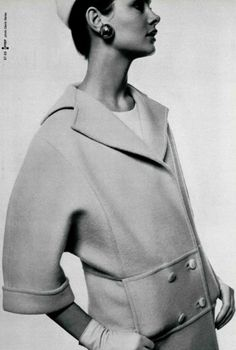 Jean Shrimpton by Bailey in L'Officiel 1967  perfect coat!!!
