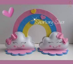 Nubes de amor Cloud Party, Early Childhood Activities, Diy And Crafts, Crafts For Kids, Make Tutorial, Rainbow Parties, Baby Shawer, Ideas Para Fiestas, Baby Party