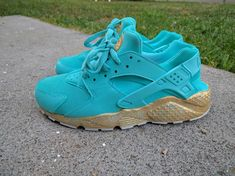 Custom Nike Tiffany Huarache by DesiCustoms on Etsy