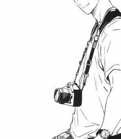 boy, manga, and camera image Camera Drawing, Camera Art, M Anime, Anime Guys, Camera Cartoon, Profile Pictures Instagram, Cartoon Sketches, Black And White Aesthetic, Manga Boy