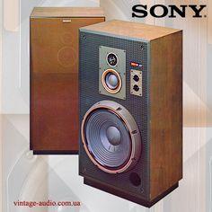 Sony Speakers, Best Speakers, High End Audio, Loudspeaker, Audio Equipment, Audiophile, Tape, Furniture, Vintage Ads
