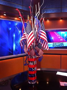 Three Pink Dots:  4th of July Centerpiece