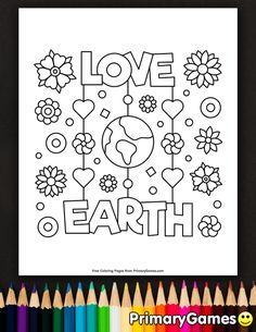 Free Printable Earth Day Coloring Pages EBook For Use In Your Classroom Or Home From PrimaryGames