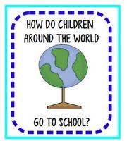 How do children around the world go to school?  FREE printable